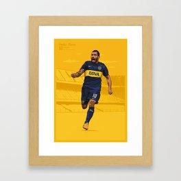 Carlos Tevez - Boca Juniors  Framed Art Print