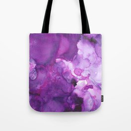 Alcohol Ink Amethysta Tote Bag