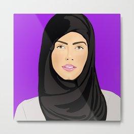 Hijabi Metal Print