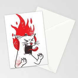 Raging Cat Stationery Cards