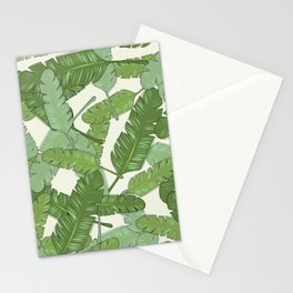 Banana Leaf Print Stationery Cards
