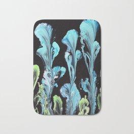 Blue Iris Flowers Bath Mat