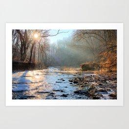 Solstice On Brush Creek 2 Art Print