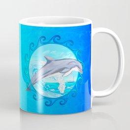 Dolphin Maori Sun Coffee Mug