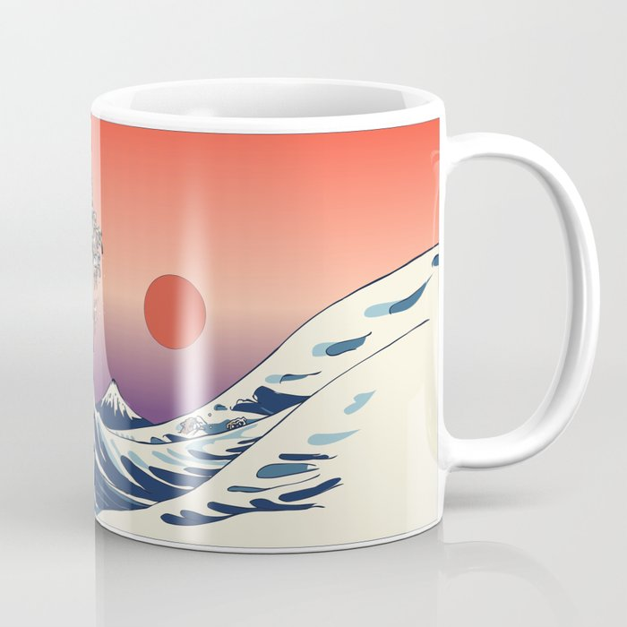 The Great Wave of English Bulldog Coffee Mug