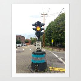 Windows On Main Street 2015 - Dummy Light Yarn Bomb Art Print