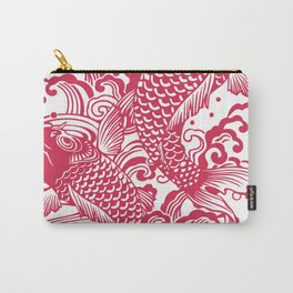 Red Koi Carry-All Pouch