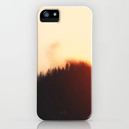 Calm Evening In Beautiful Woods iPhone Case