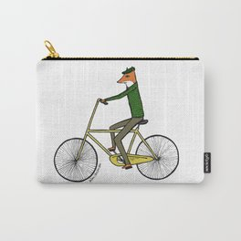 Mr. Fox on a Bicycle Carry-All Pouch