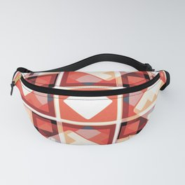 Orange Abstract Squares Pattern Fanny Pack