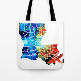 Louisiana Map - State Maps By Sharon Cummings Tote Bag