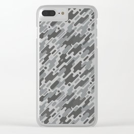 Modern Camouflge Grey Army Pattern Clear iPhone Case