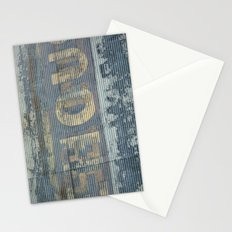 Warehouse District -- Rustic Country Chic Abstract with Letters Stationery Cards
