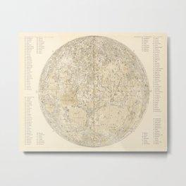 Antique Moonscape Lithograph Metal Print