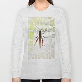 Grasshopper in lace curtain Long Sleeve T-shirt