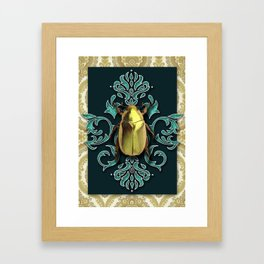 GOLDEN BEETLE Framed Art Print