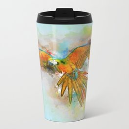 High as a Macaw Metal Travel Mug