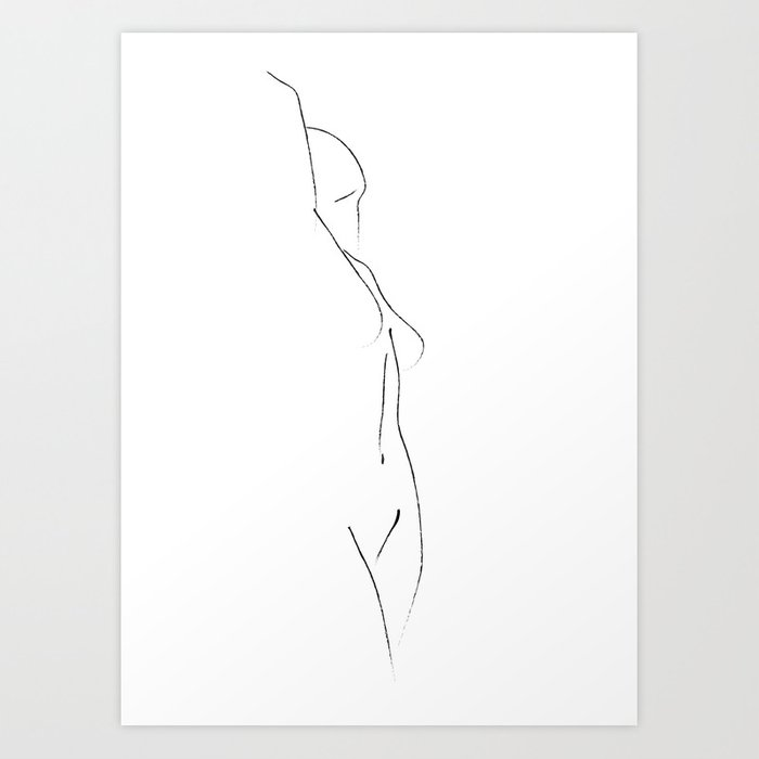 Minimal Line Drawing 3 Kunstdrucke