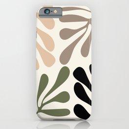 Algae on light off white ground iPhone Case