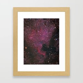 The North American Nebula Framed Art Print