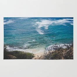 Surfer meets Sea - Diamond Head / Oahu / Hawaii Rug