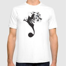 LOOKING White SMALL Mens Fitted Tee
