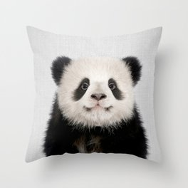 Panda Bear - Colorful Throw Pillow