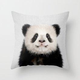 Panda Bear - Colorful Throw Pillow