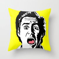 ace Throw Pillows featuring Ace by Gary Barling