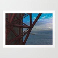 Golden Gate Geometry 2 Art Print