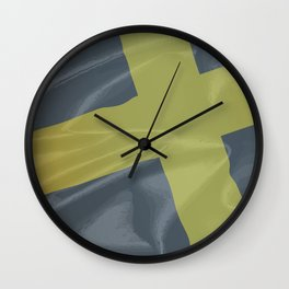 Silk Flag of Saint David Wall Clock