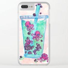 Octopi Boba Tea Clear iPhone Case