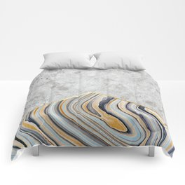 Concrete Arrow - Blue Marble #177 Comforters
