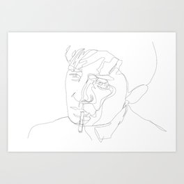 smoking man Art Print