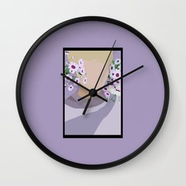 Flower Boy #2 Wall Clock