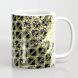 Geometric distressed pattern yellow Coffee Mug