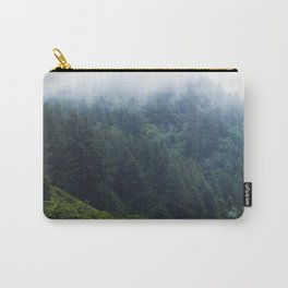 Oregon forest, foggy forest, oregon coast, green forest, nature, moody forest, moody landscape Carry-All Pouch