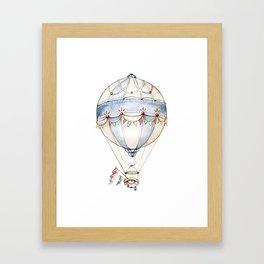 Kyanite Air Balloon Framed Art Print