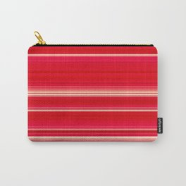Dahlia Strawberry & Cream - Floral striped pattern Carry-All Pouch