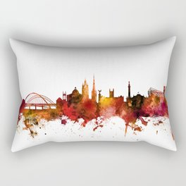 Newcastle England Skyline Rectangular Pillow