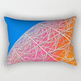 Rainbow Biosphere Mesh Rectangular Pillow