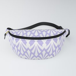 Decorative Plumes - White on Lilac Fanny Pack