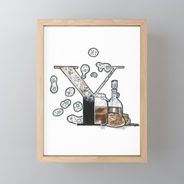 Y is for Yeast Framed Mini Art Print