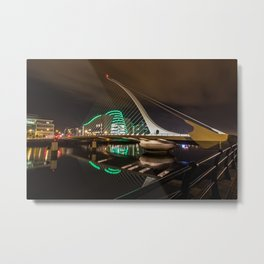 Samuel Beckett Bridge Metal Print