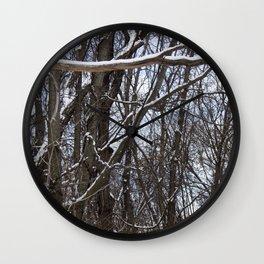 Snowy Woods Wall Clock