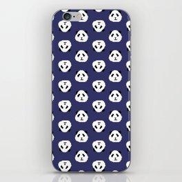 Blue Pixel Panda Pattern iPhone Skin