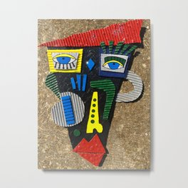 Abstract Picasso inspired face Metal Print