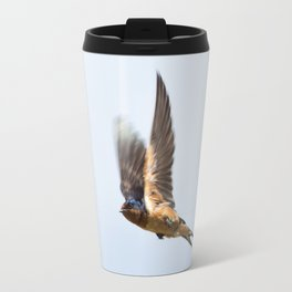Male barn swallow in flight Travel Mug