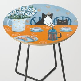 Cats and a French Press Side Table