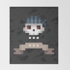 Pixel Skull Throw Blanket